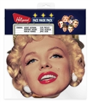 Star Cutouts Hollywood Masks (Audrey Hepburn, Steve McQueen, Marilyn Monroe, James Dean, Elvis, Humphrey Bogart)