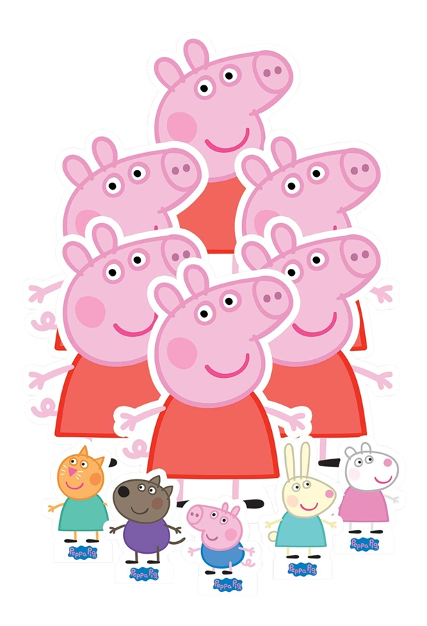 Star Cutouts Table Top Peppa Pig Decoration Party Pack