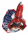 Thunderbird 3 Red Space Rocket Wall Mounted Cardboard Cut Out (WMCCO)