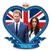 Royal Wedding Commemoration Wall Cut Out Prince Harry & Meghan Markle