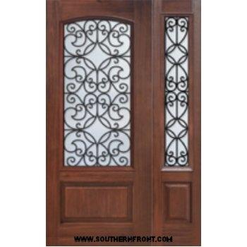 Florence 6 8 Arch Lite Fibergl Doors Single And 1 Sidelight