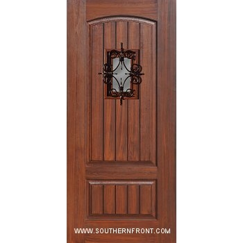 sc 1 st  Southern Front Doors! & 6-8 V Grooved Door with Florentine Speakeasy - Click Here