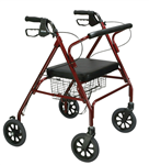 Drive Go-Lite Rollator, Padded Seat, 8 inch Casters