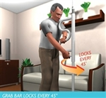 Stander Security Pole & Pivoting Grab Bar