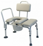 Lumex Padded Commode Transfer Bench, with pail and cover