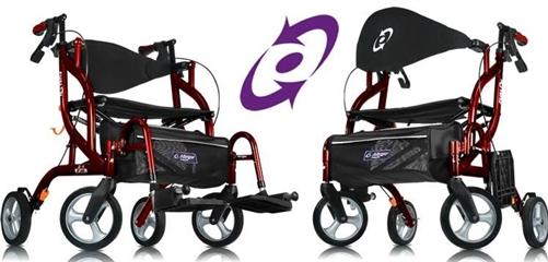 Airgo Fusion Rollator Transport Wheelchair Rollator