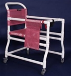 "PVC Anthros 18"" Adjustable Arm and Seat Ambulator with 3"" Casters"