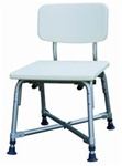 Essential Medical HD Shower bench with Back 500 lbs. Capacity