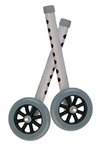 "Drive 5"" Universal Walker Wheels with Two Sets of Rear Glides"