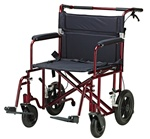 "Drive Bariatric 22"" Transport WheelChair 450 Lbs. Capacity ATC22R"