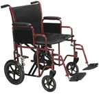 Drive Bariatric Steel Transport Wheelchair, 20 inch and 22 inch Seat Width, 450 Lbs. BTR2