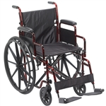 "Drive Wheelchair Rebel 18"", Flip Back Desk Arm, Swing-away Footrest"
