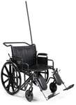 "Everest & Jennings Wheelchair Traveler HTC Heavy Duty Bariatric 20"",22"", & 24"" Width"