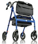 Hugo Elite Rolling Walker with Seat has 2 heights