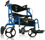The Hugo Navigator is a lightweight 2-in-1 rolling walker and transport chair!