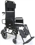Karman Reclining High Strength Lightweight Aluminum Detachable-Arm Wheelchair KM-5000TP-18