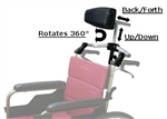 Karman Universal Headrest Mount Fits Almost All Wheelchairs