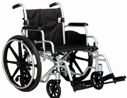 Merits Wheelchair/Transport Chair with Flip Back Arms