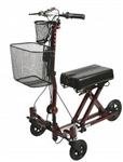 Medline Weil Knee Walker, burgundy MDS86000