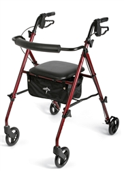 Medline Ultralight Rollator, Adjustable Seat Height, MDS86825SLR