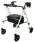 Medline Rollator Luxe White
