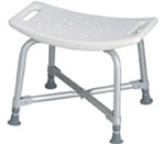 Medline Bariatric Bath Bench without Back has Suction-cup feet secure bench in bathtub MDS89740AXW