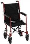 Nova Ortho-med 19 inch Transport Chair with Fixed Arms