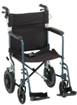 Nova 19 inch Transport Chair with 12 inch Rear Wheels