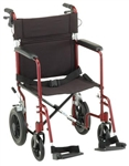 "Nova Transport Wheelchair 20"" Seat Width and Hand Brakes"