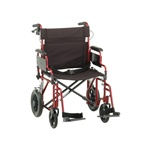 "Nova Bariatric Aluminum Transport WheelChair 22"" Seat 400 Lbs. Capacity"