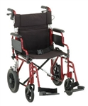 "Nova Aluminum Transport WheelChair 19"" Seat"