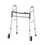 Nova Petite Folding Walker with 5″ Wheels Two Button Release