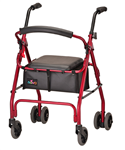 Nova Cruiser Classic Rolling Walker Weight Activated Brake System (push down brakes)