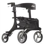 Drive Nitro Elite CF, Carbon Fiber Rollator Side to Side Folding