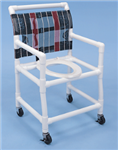PVC Shower Commode Chair 25 in. Wide