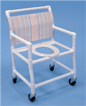 PVC Shower Commode Chair 28 in. Wide