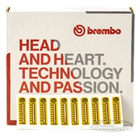 BREMBO CALIPER TEMPERATURE STICKERS 10 PACK
