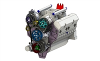 IDD 11-1300-01 SBC ENGINE ACCESSORY PACKAGE, RACE, SINGLE ALTERNATOR