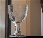 White Wine Glass with Leaves 10oz.