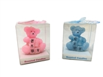 "Clearance - 2.75"" Teddy Bear with Baby Blocks - Scented Candle (With Gift Box) (12)"