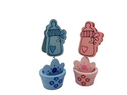 "Clearance - 3"" Baby Bottle - Spring Bobble Favor (12)"
