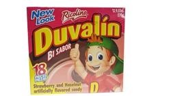 Ricolino Duvalin Bi Sabor (Strawberry and Hazelnut) Candy  #12