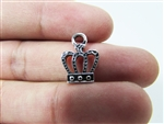 "Miniature 0.5"" Crown Metal Charm (42)"