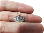 "Miniature 0.75"" Crown Metal Charm (36)"