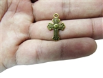 "Miniature 0.75"" Cross Metal Charm (50)"