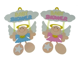 "15"" Angel Decorativo con letrero ""Baby Shower"" - de Fomi (1)"