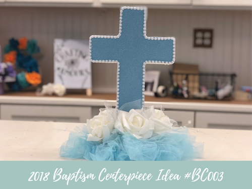 (NEW) 2018 - Baptism Centerpiece Idea #BC003