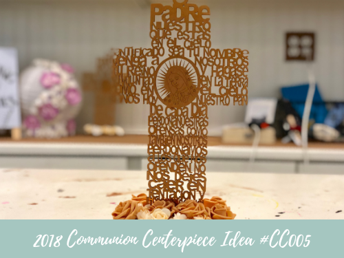 (NEW) 2018 - Communion Centerpiece Idea #CC005
