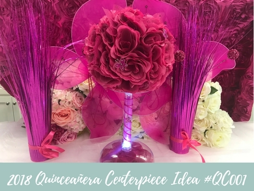 (NEW) 2018 - Quinceanera Centerpiece Idea #QC001