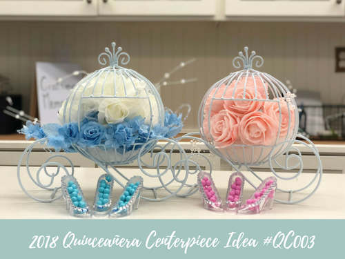 (NEW) 2018 - Quinceanera Centerpiece Idea #QC003
